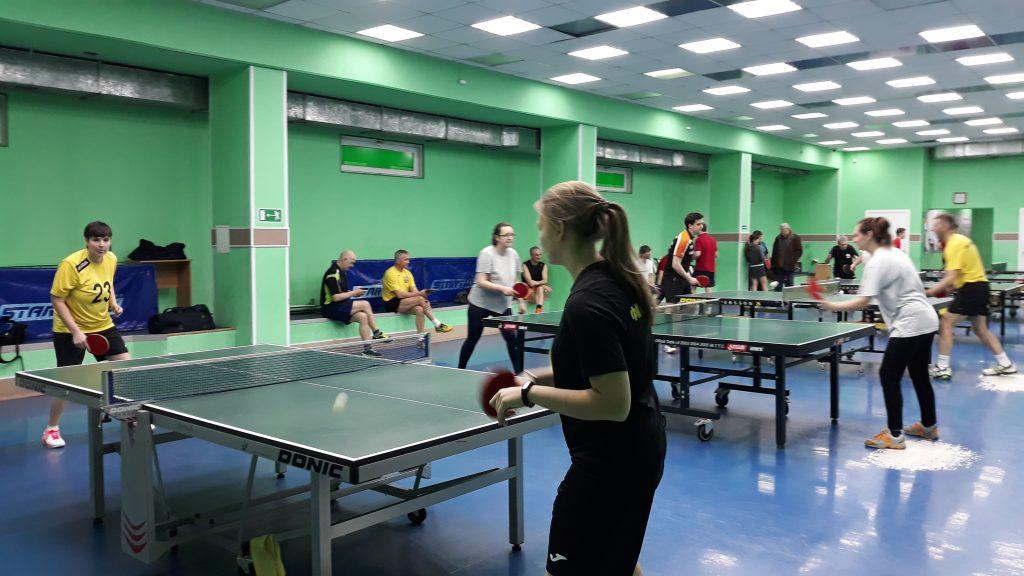 Этап городской традиционной Спартакиады сотрудников муниципальных учреждений спортивной направленности города Кемерово по настольному теннису.