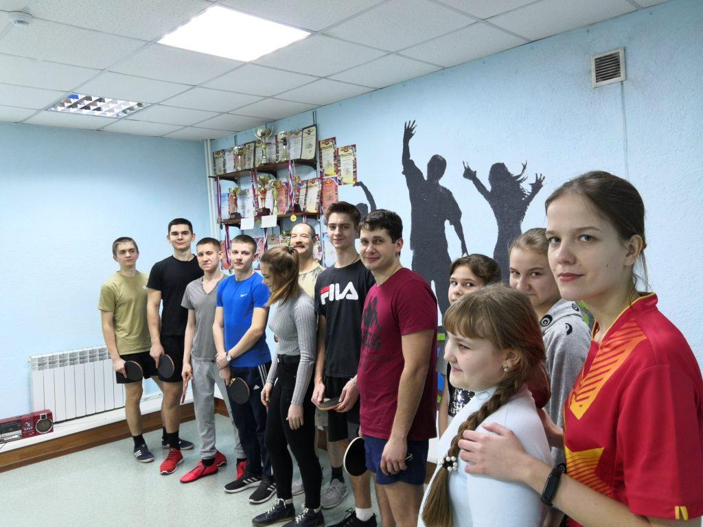 Турнир в клубе «Слава» по настольному теннису ко «Дню защитника отечества».