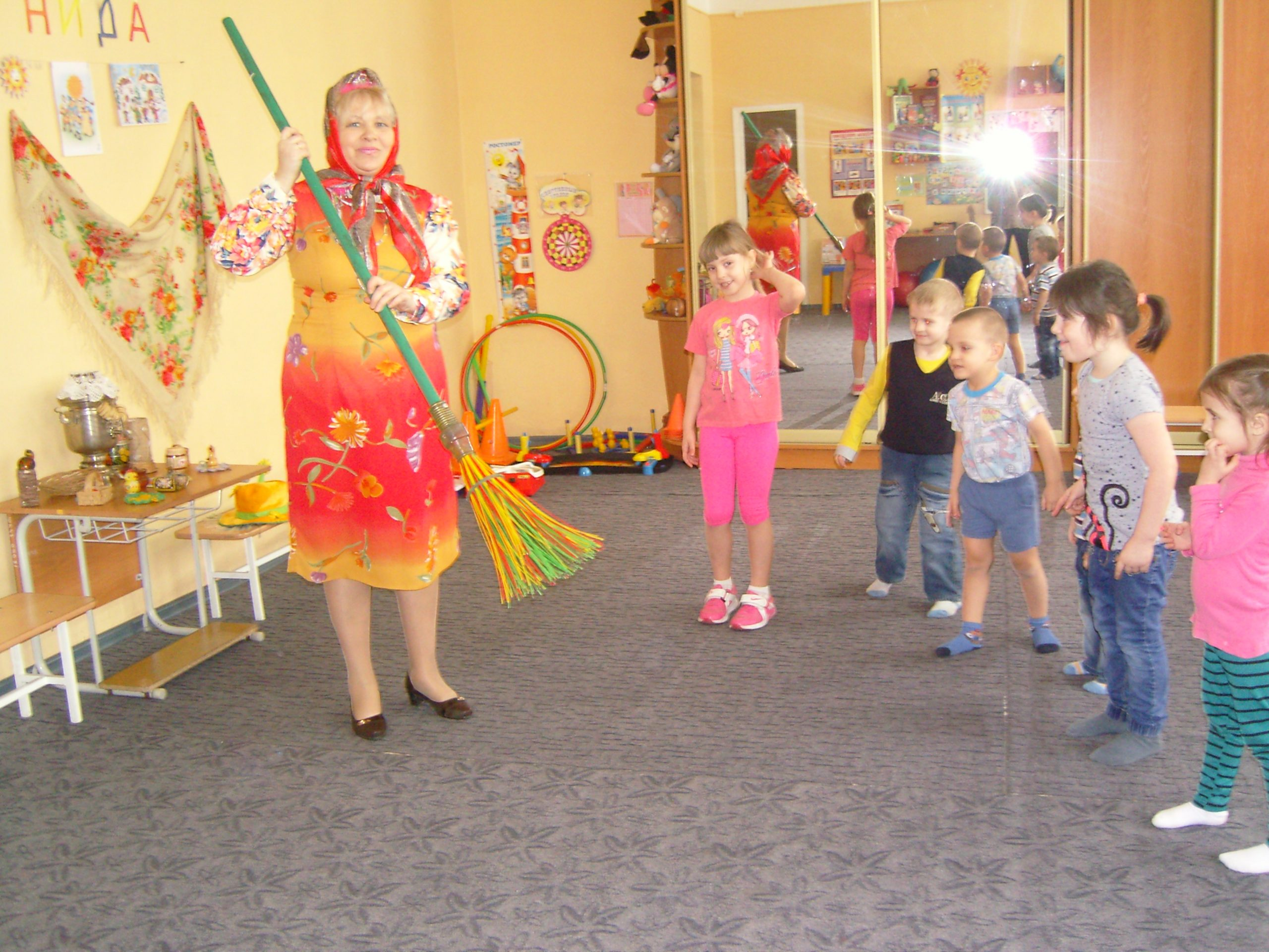 Фольклорный праздник «Масленица» в Дошколёнке