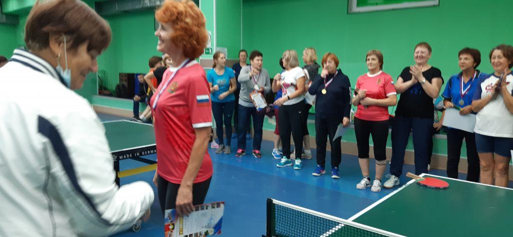 3 октября 2021 года в клубе по месту жительства «Союз» прошли соревнования по настольному теннису среди женщин в рамках проведения ХХ Спартакиады среди ветеранов города Кемерово, посвященной празднованию 300-летия образования Кузбасса.